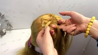 Прическа на длинные волосы Вечерняя причёска косы и жгуты Прически для девочек вечерние