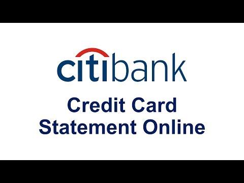 Citibank Credit Card  Estatement