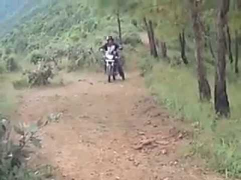 Nepal's best Motor bike hiking route at PHARPING kathmandu in Nepal.
