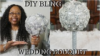 DIY BLING WEDDING BOUQUET | QUICK,& EASY BROOCH BOUQUET | DIY WEDDING DECOR IDEAS