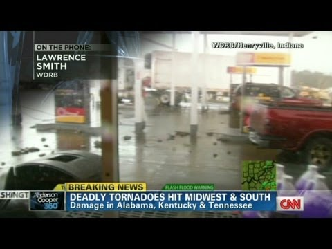 Henryville Tornado - WDRB reporter Lawrence Smith, we saw homes ripped apart