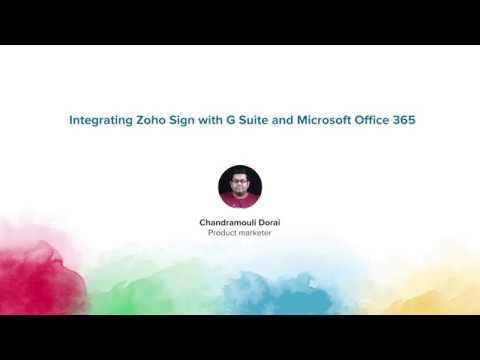 G Suite - Google Apps - Zoho Sign Integration