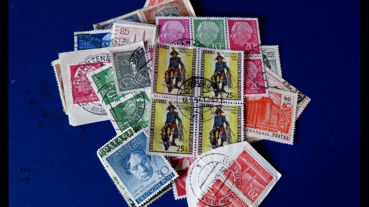 Briefmarken Wertvoll Schatzsuche In Kistchen Mit Tüten Briefmarken