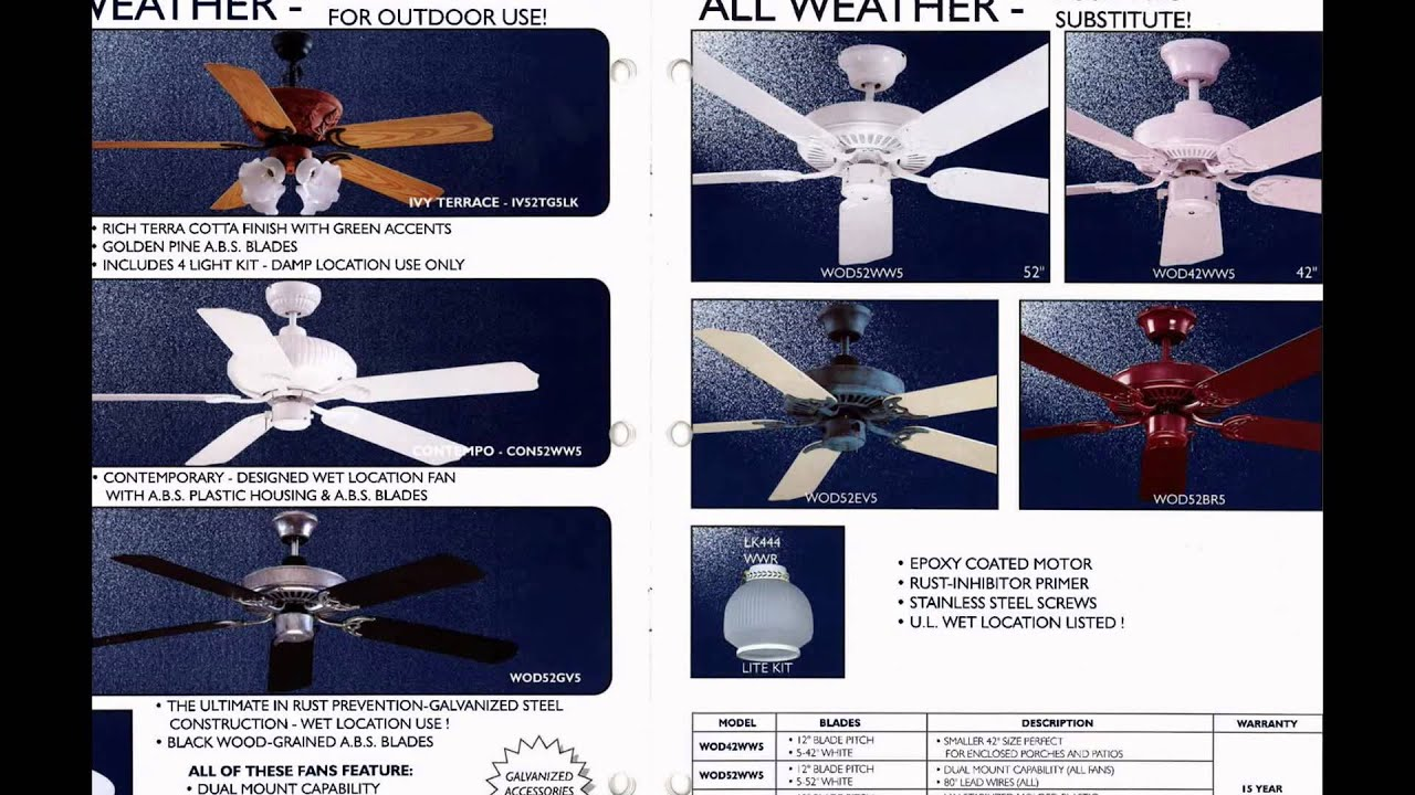 Litex Ceiling Fan Catalog from 1997