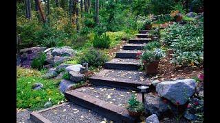 Создание и оформление садовых ступеней и лестниц