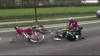 Kuurne Brussels Kuurne - Tony Martin Crash  2017