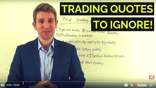 Bad Trading Advice! Ignore these Trader Sayings! 🤔