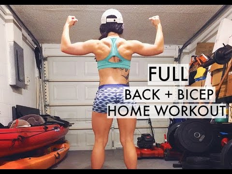 Full Back Bicep Home Workout