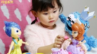 플레이도우 소피아 공주 케이크 만들기 디즈니 장난감 놀이하는 길쌤과 라임 Disney Play-Doh Sofia Toys Play Set 라임튜브 LimeTube