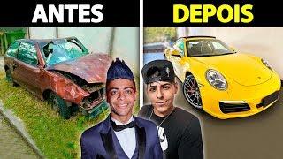 CARROS DOS YOUTUBERS ANTES E DEPOIS DA FAMA  PARTE 3