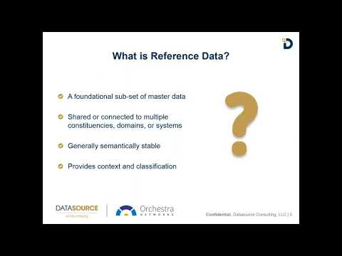 Reference Data Management Webinar