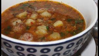Чечевичный суп с фрикадельками