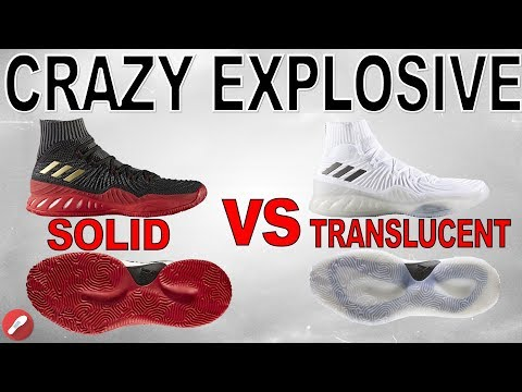 Adidas Crazy Explosive 2017 Primeknit Solid vs Translucent Outsole! What