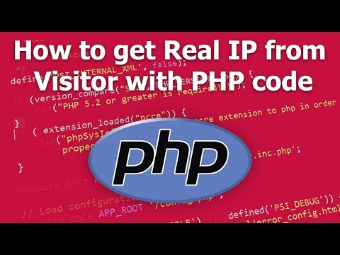 How to get Real IP from Visitor with PHP code