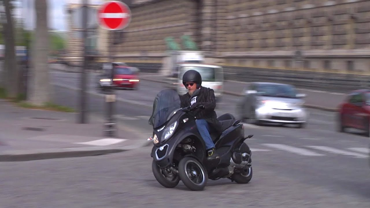 2014 piaggio mp3 500 sport abs in paris - full review - youtube