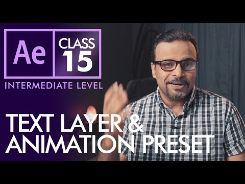 Text Layer and Animation Presets in After Effects - اردو / हिंदी