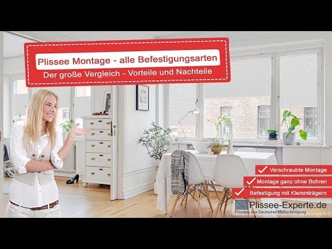 plissee montage welche befestigung ist die richtige f r mich youtube. Black Bedroom Furniture Sets. Home Design Ideas