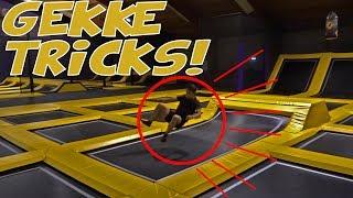 GEKKE TRICKS IN TRAMPOLINE HALL