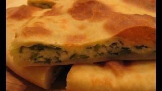 Быстрый пирог с сыром и зеленью
