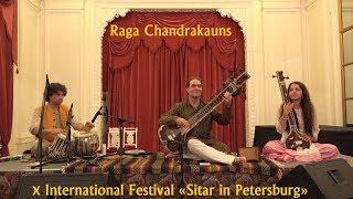 Raga Chandrakauns. Alokesh Chandra - sitar, Yury Lebedev - tabla. 4K. Рага Чандракаунс. 14.10.17