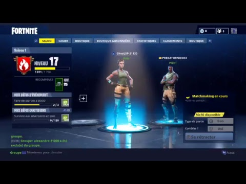 [LIVEFR] FORTNITE Section et duo PS4