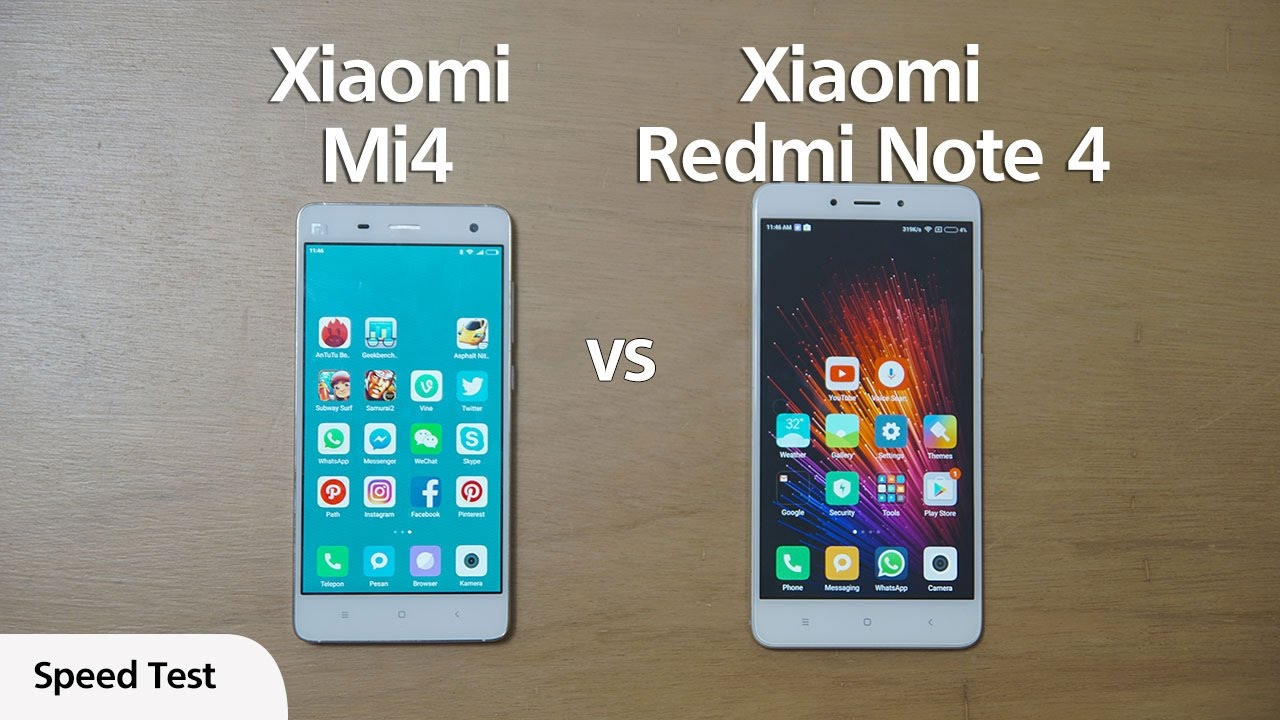 Xiaomi Redmi Note 4 Vs Redmi Note 3: Xiaomi Mi4 Vs Redmi Note 4 Indonesia