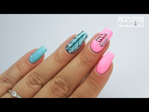Cute braid nails art tutorial / Charbonne thumbnail
