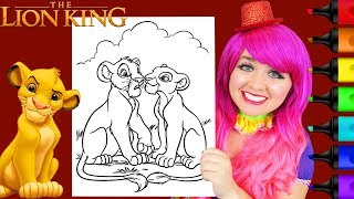 Coloring The Lion King Simba & Nala Disney Coloring Page Prismacolor Markers | KiMMi THE CLOWN