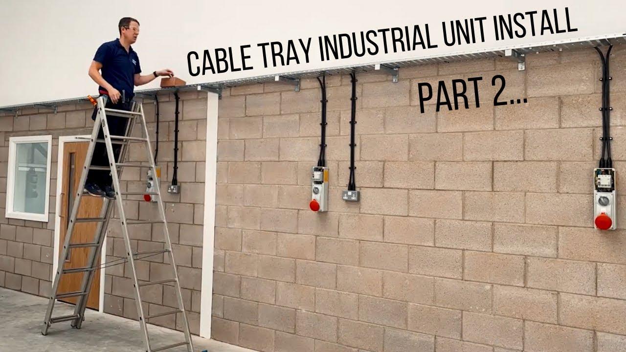 Cable Tray, Three Phase Sockets & SWA Cable Install - Part 2