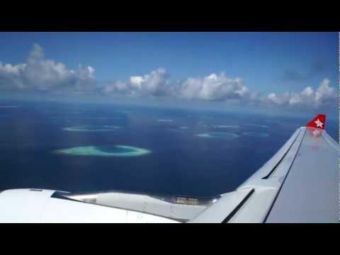 Landing Male, Maldives, Airbus A330-300 Edelweiss Air