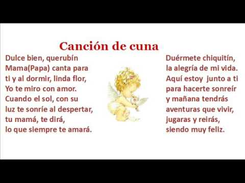 Letra de nana canci n de cuna y musica de brahms youtube for Cancion de cuna de brahms