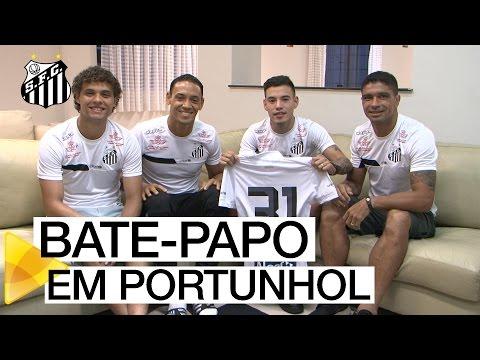 Jogadores entrevistam Maxi Rolón