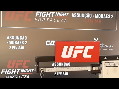 UFC Fortaleza Official Weigh-in Live Stream