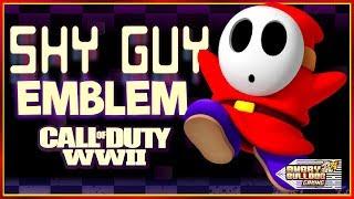 COD-WWll SHY GUY EMBLEM TUTORIAL │SUPER MARIO │1080P