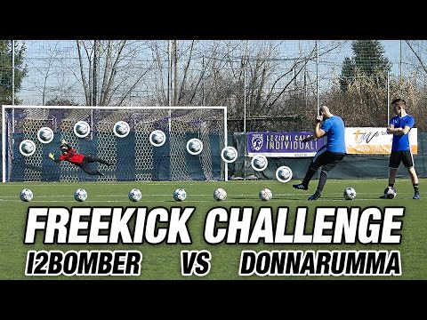 I2BOMBER vs DONNARUMMA - Free kick Challenge Messi CR7