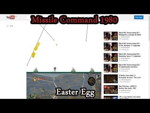 Missile Command 1980 Durante Os Vídeos Do Youtube !? ( Easter Egg )