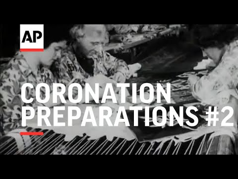Coronation Preparations - HM Robes And Beasts - 1953