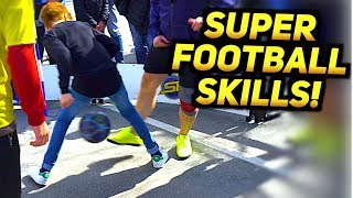 SUPER FOOTBALL SKILLS! 😱(SkillTwins Volkswagen Panna Tour EPISODE #1)