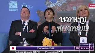 WC 2017 Yuzuru Hanyu FS WORLD RECORD!!!!! Юдзуру Ханю ПП ЧМ 2017 // 羽生 結弦