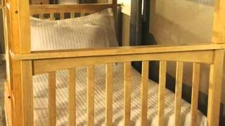 Columbia Twin Over Twin Bunk Bed - Product Review Video