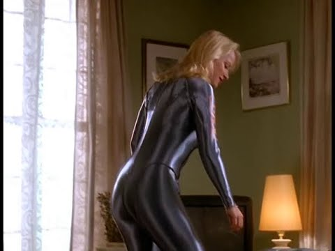 Download HD1080-Valérie Valois in shiny glossy lycra spandex catsuit; The Hunger(1997-2000)The Suction Method