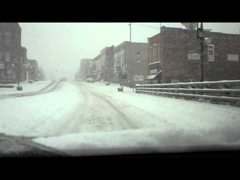 Winter Storm Warning in Grand Ledge, Michigan - 2-20-11