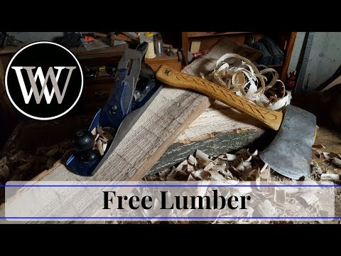 Methods to Get Free Lumber – Riven Wooden With Primary Hand Instruments // Woodworking