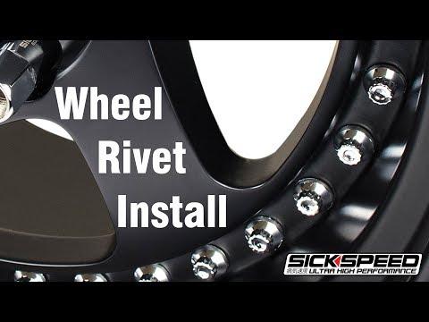Wheel rivet install video