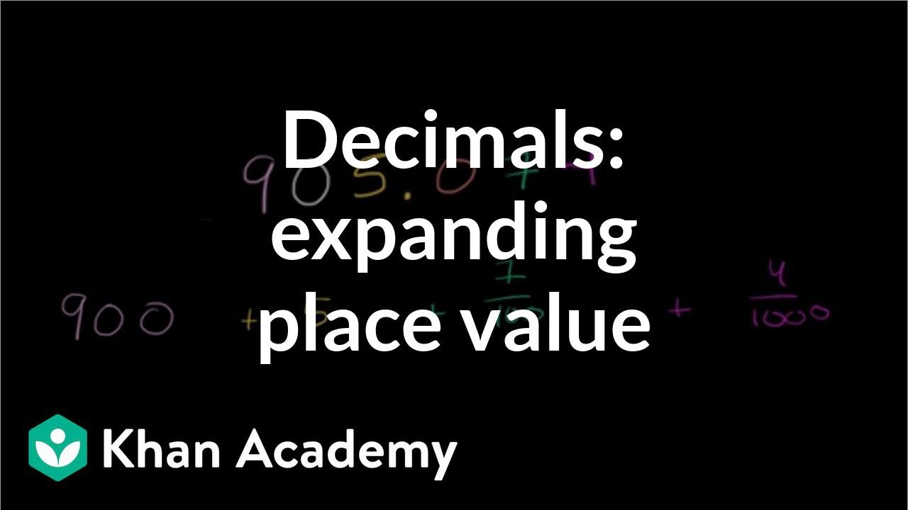 medium resolution of Worked example: Write decimal in expanded form (video)   Khan Academy
