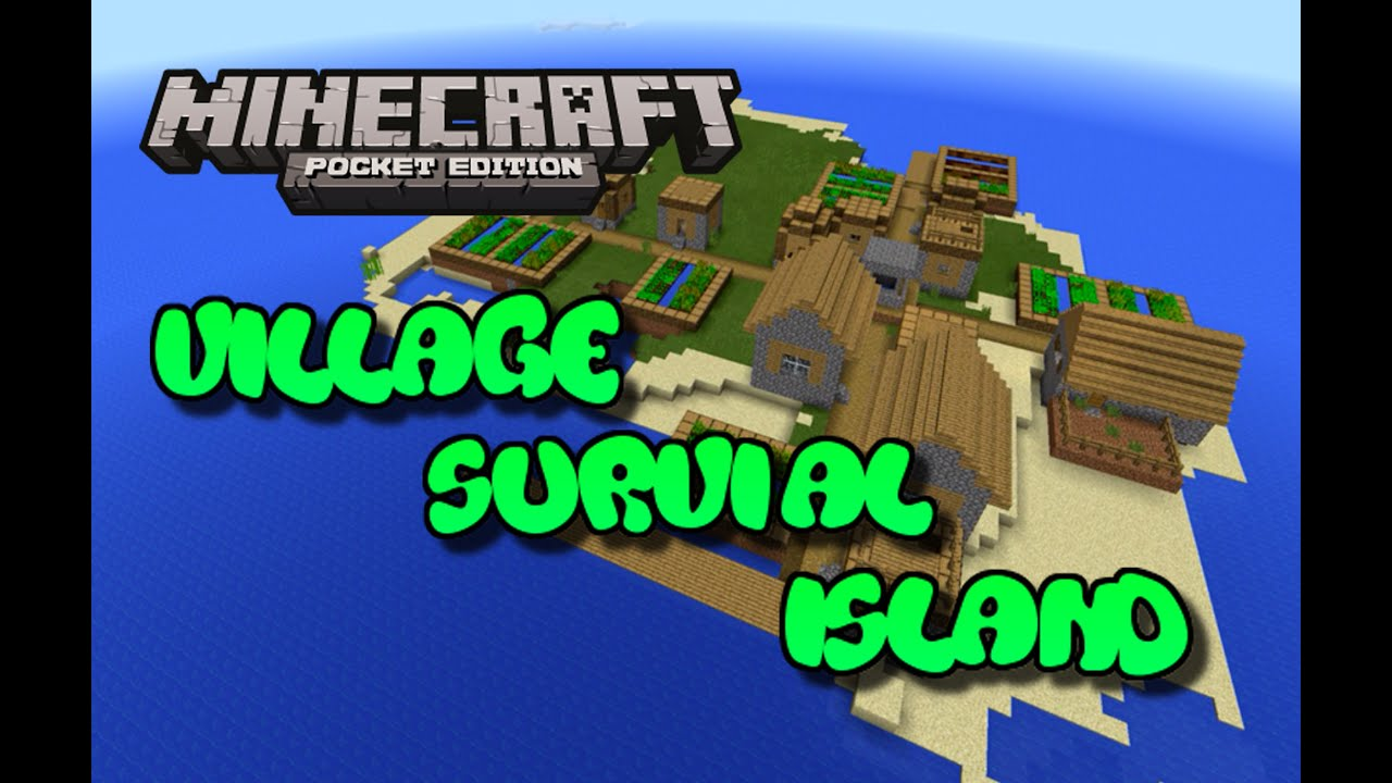 Minecraft Survival Island Top 3 Seeds 1 2 Also Artomix C1 Village Seed Pocket Edition Youtube