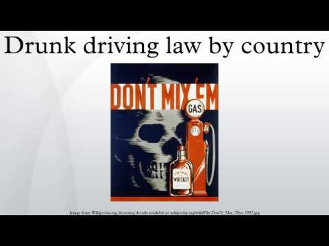 Drunk driving law by country