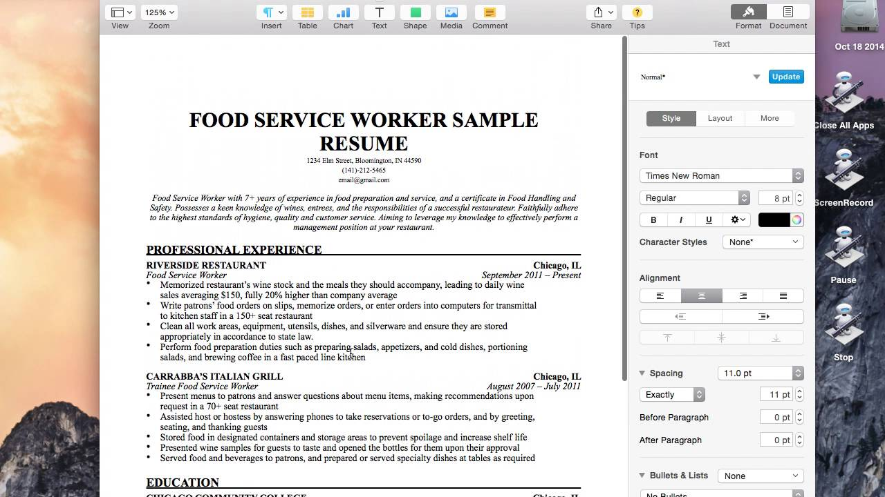 mac osx tutorial export resume as pdf pages youtube