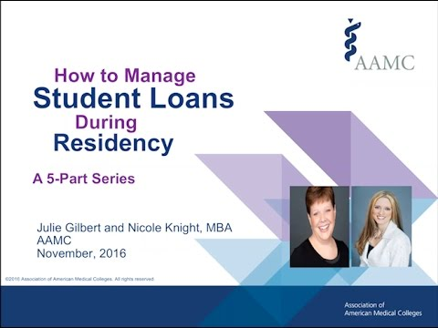 FIRST Friday Webinar: How to Manage Your Student Loans During Residency