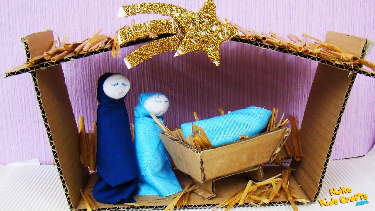 How To Make A Nativity Scene Diy Youtube